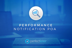 Package: Performance Notification POA