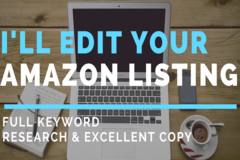 Package: Full Edit & Optimization of your Listing & Keyword Research