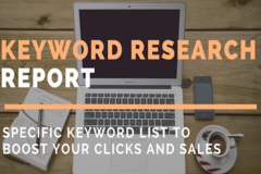 Package: Full Keyword Research Report For Optimizing Your Listing