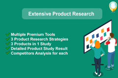 Package: Extensive Product Research with Premium Tools  | 3 in 1 +