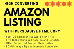 Package: High Converting Amazon Listing & Persuasive HTML Sales Copy
