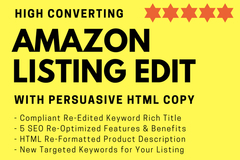 Package: Amazon Listing Edit SEO Optimized with Keyword Research