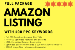 Package: Fully Compliant 5 STAR Listing, 250 Search Terms +100 PPC KW
