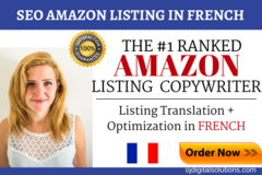 Package: Translate & Optimize your English Listing to FRENCH