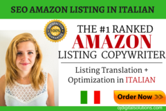 Package: Localize & Optimize your English Listing to ITALIAN