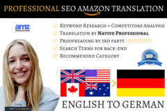 Package: 20% OFF! Listing Translation & SEO - ENGLISH TO GERMAN