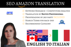 Package: Listing Translation & SEO - ENGLISH TO ITALIAN