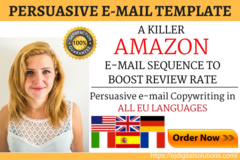Package: A Killer Email Sequence - Boost AMZ Review Rate | ANY Market