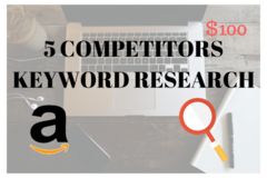 Package: Reverse ASIN Search on 5 Competitors Keywords Rankings