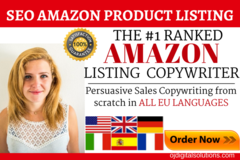 Package: SEO Amazon EBC Listings - Pack of 5 in ALL Languages