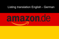 Package: Amazon Listing translation from English to German