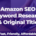 Package: Amazon SEO Keyword Research & Original Title