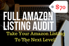Package: Full Audit of Your Current Listing To Increase Your Sales