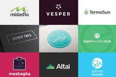 Package: Creative, professional logo design and branding