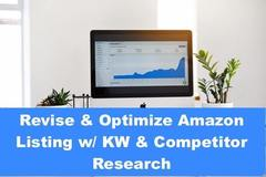 Package: Revise & Optimize Amazon Listing w/ KW & Competitor Research