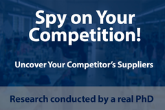 Package: Find your Competitor's Factory! Sourcing Research by a PhD