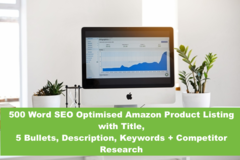 Package: 500 Word Optimized Listing w/ Keyword & Competitor Research