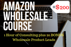 Package: SALE! FBA Wholesale Course - 1 Hr of Consulting, 20 Products