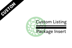 Package: CUSTOM PACKAGE - INSERT