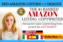 Package: Killer SEO Amazon Listing, 300+ KWs & 7 Main Image Designs