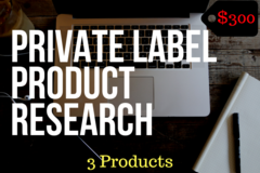 Package: 3 Low Competition Products - Private Label Product Research