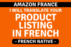 Package: Translate your Amazon Listing in FRENCH