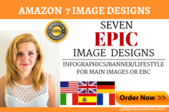 Package: 7 Epic Image Designs for Amazon Main/EBC Images