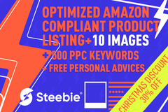 Package: 100% Optimized Amazon Compliant Listing + 10 Images + PPC KW