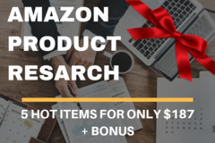 Package: Product Research PLATINUM Package | 5 Product Ideas + BONUS