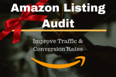 Package: Amazon Listing Audit   improve Traffic, Conversions & Sales