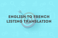 Package: ENGLISH to FRENCH Listing Translation & Top 3 Keywords