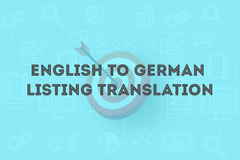 Package: ENGLISH to GERMAN Listing Translation & Top 3 Keywords