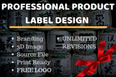 Package: Product LABEL Design | BRANDING + LOGO | ALL INCLUSIVE