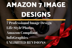 Package: 7 Epic Image Designs | Amazon Main/lifestyle image