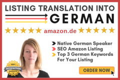 Package: Listing TRANSLATION + TOP 3 Keywords | GERMAN Native Speaker