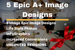 Package: 5 Epic Image Designs A+ | Main/lifestyle/infographic images