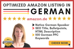 Package: GERMAN SEO Amazon Listing + 100 best PPC KW