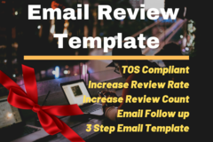 Package: 3 Step Email Review Template | Increase Review Rate & Count