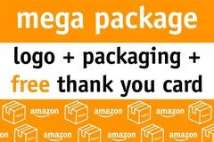 Package: Mega Package | Logo + Packaging + FREE BONOS Thank You Card