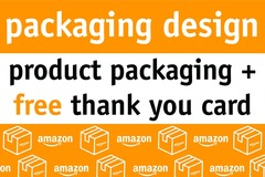 Package: Packaging Design + FREE thank you card.