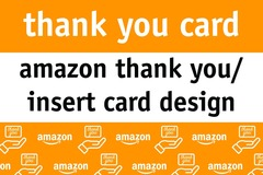 Package: Amazon Insert And Thank You Card