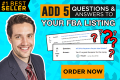 Package: Add 5 QUESTIONS AND ANSWERS to your Amazon Listing