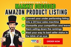 "Package: ""Market Decoded"" Amazon Product Listing with competitor KW"