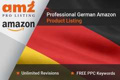 Package: Professional GERMAN Amazon Product Listing + PPC Keywords