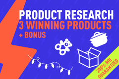 Package: 3X 200% ROI Product Research Winning Product to Dominate