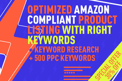 Package: 100% Optimized Amazon Compliant Listing 500W + PPC Keywords