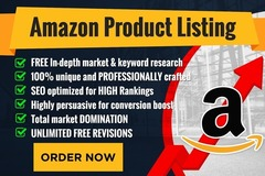 Package: 3x 500 Words Optimized Amazon Product Listing + PPC KW