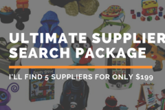 Package: The Ultimate Supplier Search Package | I'll find 5 Suppliers