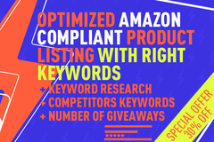 Package: 2 X 100% Optimized Amazon Compliant Listing 500W + PPC KW