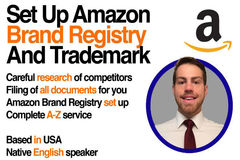 Package: I Will Setup Amazon Brand Registry With Trademark